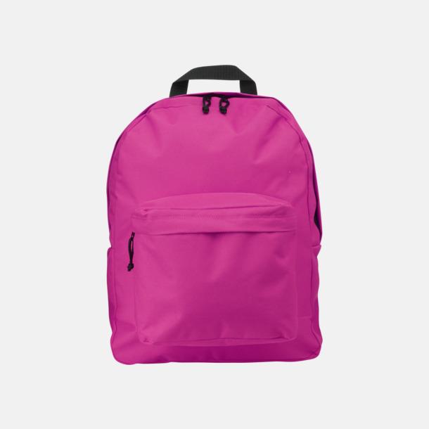 Rosa Stilren och klassisk ryggsäck med reklamtryck