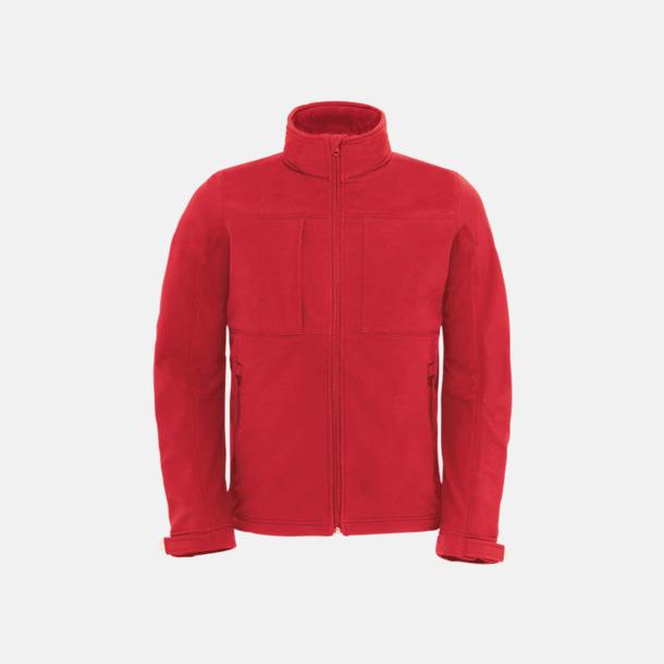 Röd (herr) Softshell-jackor för vuxna och barn - med reklamtryck