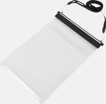 Svart / Transparent Vattentäta fodral för surfplattan - med tryck