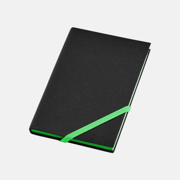 Svart/Grön (A6) Anteckningsböcker i A5- och A6-format med reklamtryck