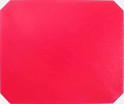 Röd (transparent) Isskrapor med reklamtryck