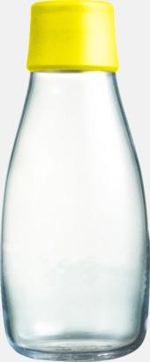 Yelloe Mindre vattenflaskor av glas med reklamtryck