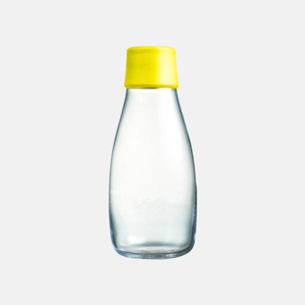 Yellow Mindre vattenflaskor av glas med reklamtryck
