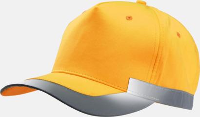 Fluorescerande Orange Reflexkeps i fluorescerande färg med reklambrodyr