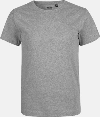 Sports Grey Ekologiska t-shirts för barn av ekologisk bomull - med tryck