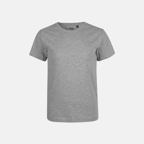 Sports Grey Melange Ekologiska t-shirts för barn av ekologisk bomull - med tryck