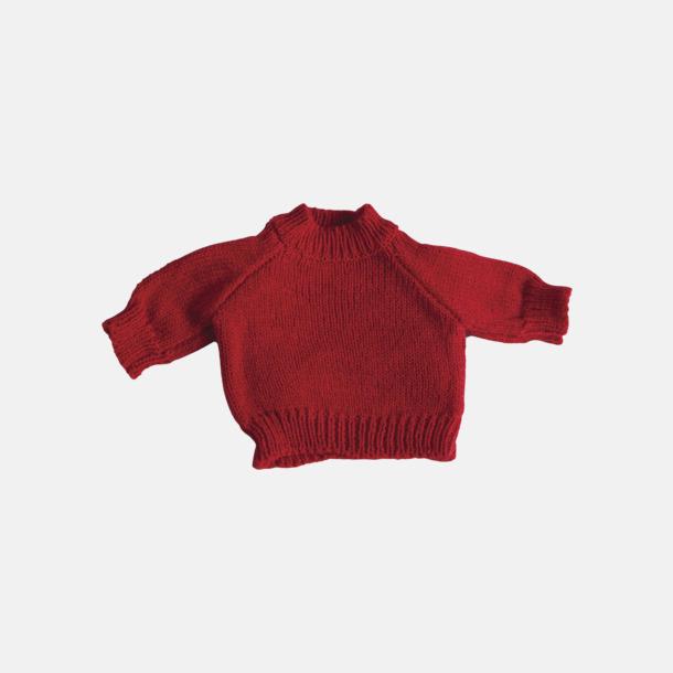 Röd Tjocktröjor för kramdjur med reklamtryck