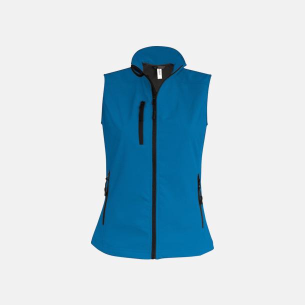 Aqua Blue (dam) Softshell Bodywarmers i herr- & dammodell med reklamtryck