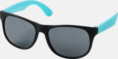 Aqua Klassiska solglasögon med bågar i kontrasterande färg - med tryck