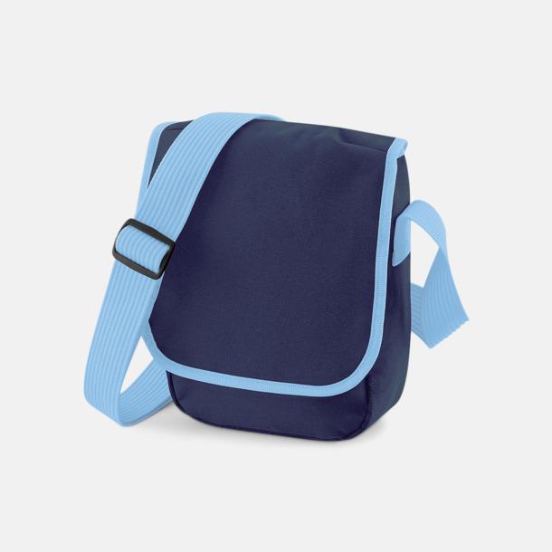 French Navy/Sky Blue Liten väska med eget reklamtryck