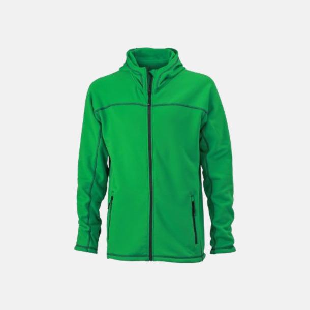 Fern Green/Carbon (herr) Figursydda herr- & damjackor i fleece med reklamlogo