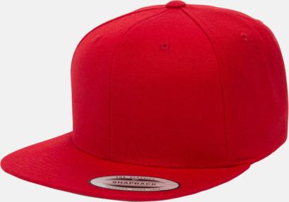 Röd Snapback kepsar med flexfit - med reklamtryck