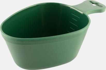 Grön Tåliga drickkåsor med tryck