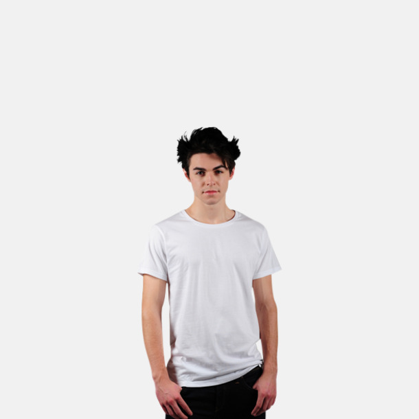 Vit Eko t-shirts i Fairtrade-bomull med reklamtryck