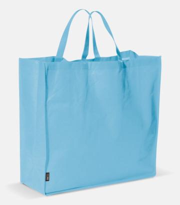 Ljusblå Stor tygkasse med reklamtryck