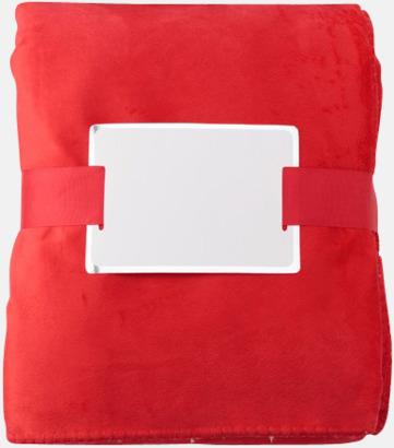Röd Mjuka fleeceplädar med reklambrodyr