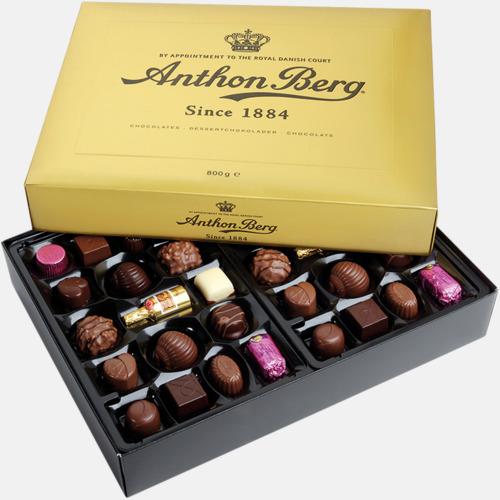 800 gram Anthon Bergs guldask med chokladpraliner