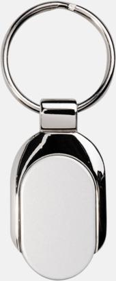 Silver Nyckelring i rostfritt stål med generös logoyta
