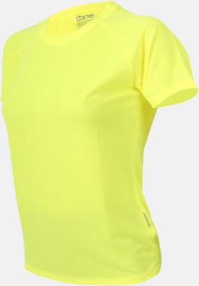 Neon yellow Sport t-shirts i många färger - med reklamtryck