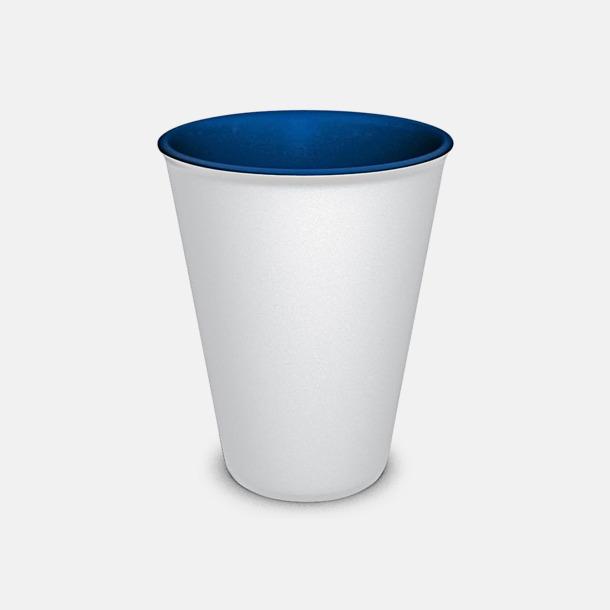 Vit/Blå Porslinsmuggar med eget tryck