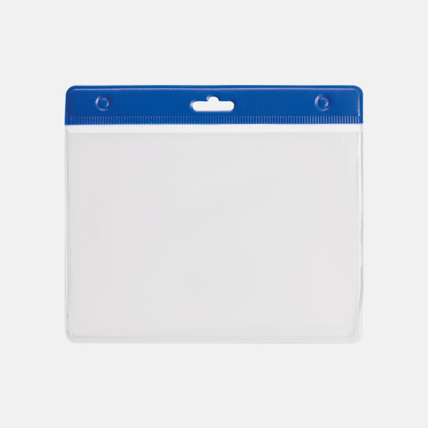 Blå ID-fodral med reklamtryck