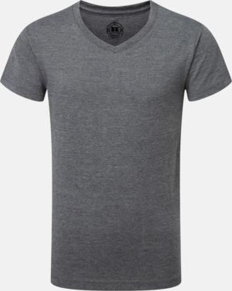 Grey Marl (v-neck pojke) Barn t-shirts i u- och v-hals med reklamtryck