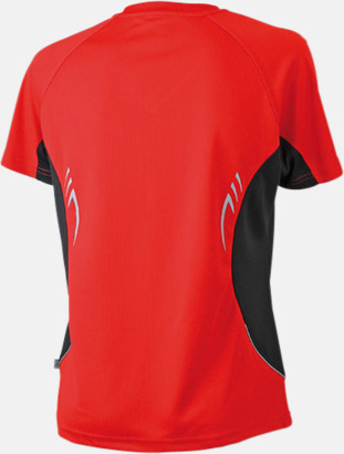 Röd/Svart/Reflex (rygg) Flerfärgade funktionströjor med eget tryck