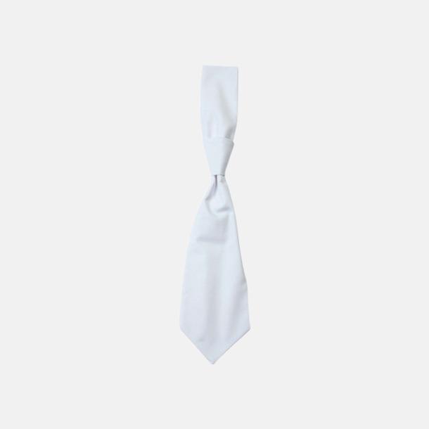 Vit (slips) Ready-to-wear slipsar och kravatter med eget tryck