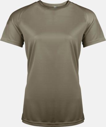 Olivgrön Sport t-shirts i många färger för damer - med reklamtryck