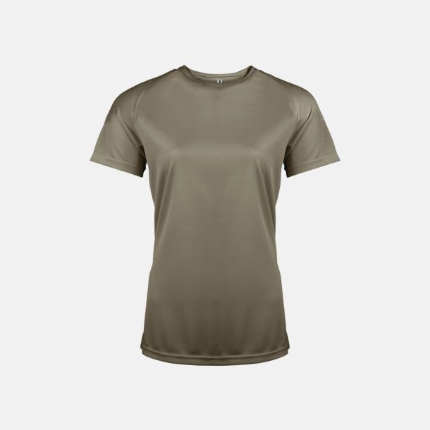 Olive Sport t-shirts i många färger för damer - med reklamtryck