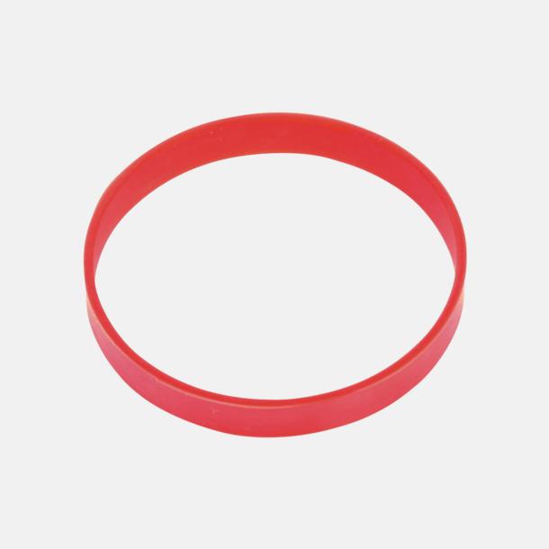 Röd Svart termos med färgat silikonband - med reklamtryck