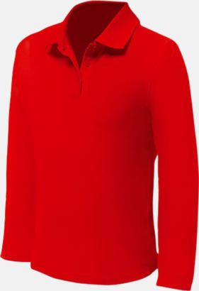 Röd (herr) Långärmade pikétröjor till lägre priser med reklamtryck
