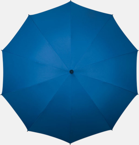 Blå (PMS 293C)  Stora golfparaplyer med eget tryck
