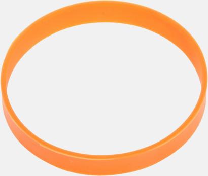 Orange Svart termos med färgat silikonband - med reklamtryck