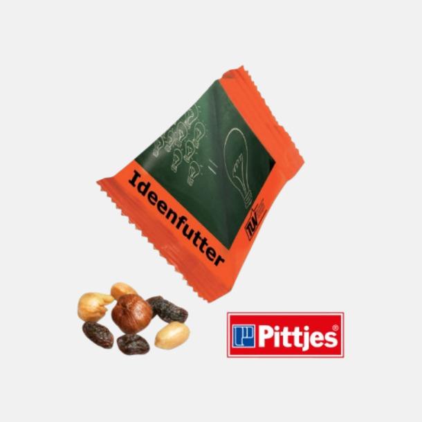 Trail Mix Snacks från Ültje eller Roland i pyramidpåsar med reklamtryck