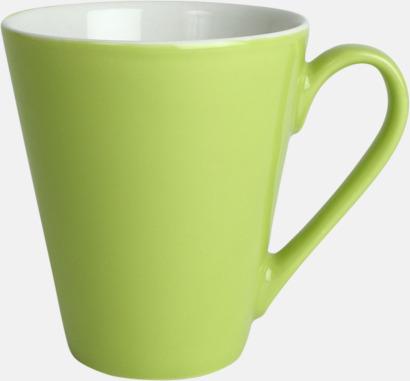 Limegrön Klassiskt kaffekopp i mångar fina färger