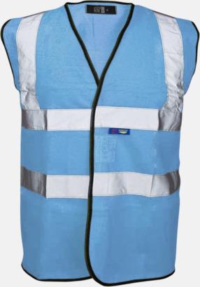 Sky Blue Färgglada säkerhetsvästar med reklamtryck