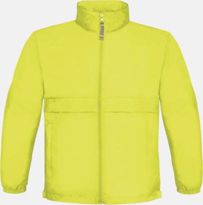 Ultra Yellow (barn) Vind- och vattentäta jackor för dam, herr och barn - med tryck