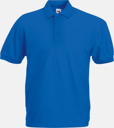 Royal Blue Pikétröjor med reklamtryck eller brodyr