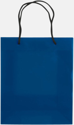 Transparent Blå (medium) Butikskassar i 2 storlekar med reklamtryck