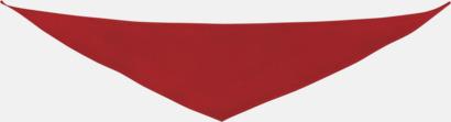 Röd Små bandana-sjalar för mjukisdjur - med reklamtryck