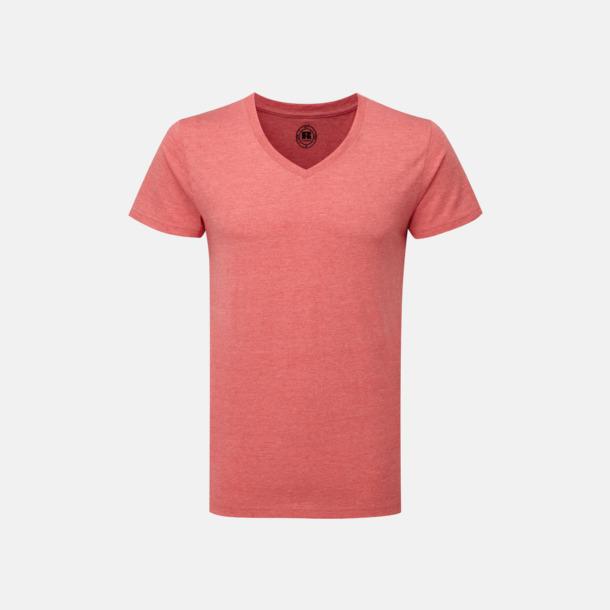 Red Marl (v-neck herr) Färgstarka t-shirts i herr- och dammodell med reklamtryck