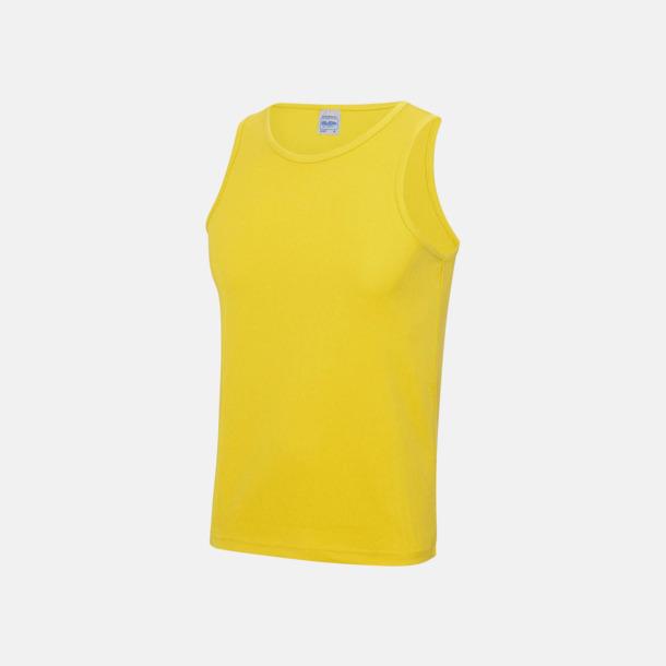 Sun Yellow (unisex) Enfärgade funktionslinnen i unisex-, dam & barnmodell med reklamtryck