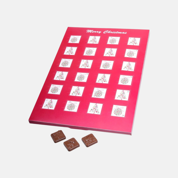 Chokladkalendrar i mindre format med eget tryck