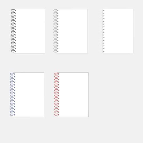 Spiralböcker med omslag av fiberkartong - Med eget tryck