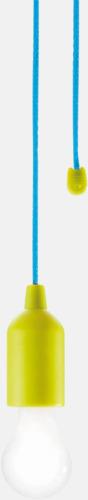 Limegrön/Blå 1W vit LED-lampor med reklamtryck