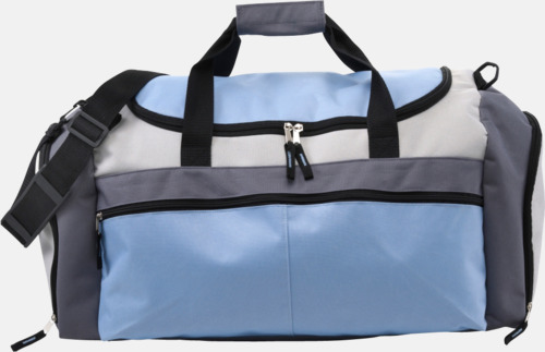 Ljusblå Tuff och praktisk sportväska med tryck