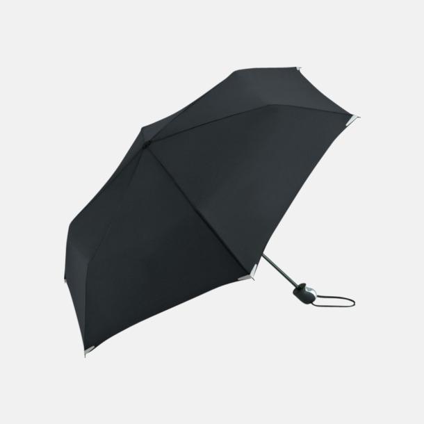 Svart Kompakta reflex paraplyer med eget reklamtryck