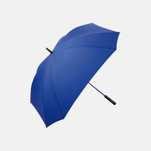 Euro Blue Fyrkantiga paraplyer med färgade skaft - med reklamtryck