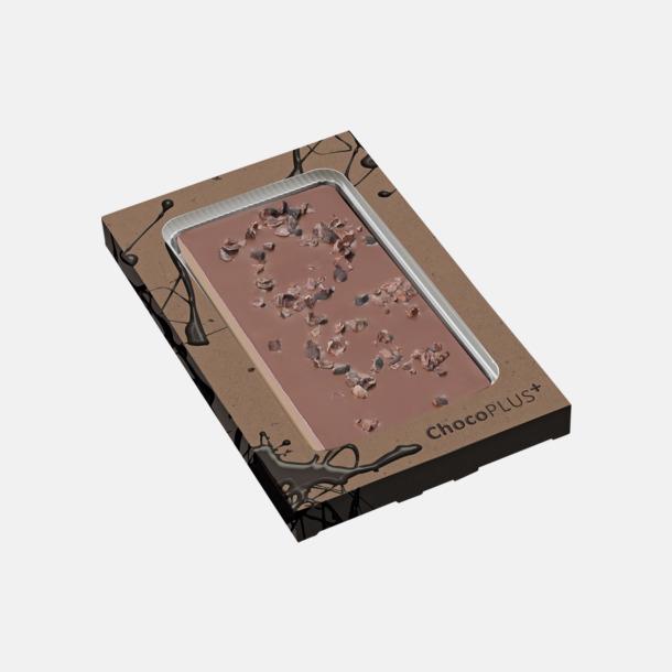 Kakao (mjölkchoklad) Lyxiga chokladkakor i många smaker med reklamtryck